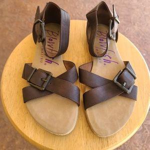 Blowfish Espadrille Ankle Strap Buckle Sandals 8.5
